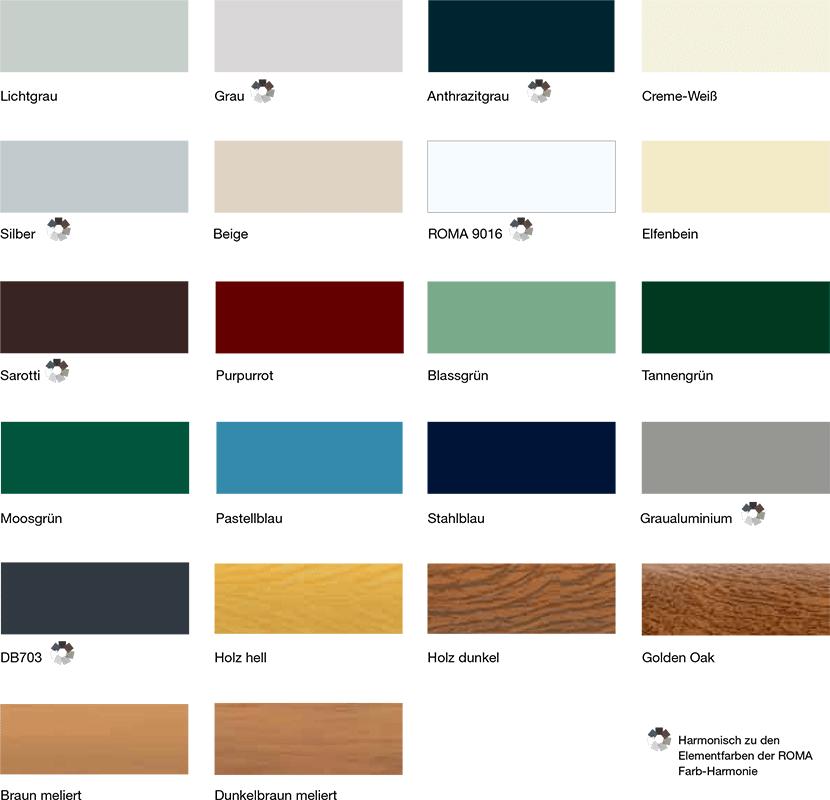Ral Farben Grau Braun